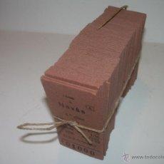 Coleccionismo Billetes de transporte: PAQUETE PRECINTADO CON PLOMO DE 100 BILLETES DE OLESA A NAVAS..........DEL Nº. 1.000 AL 1.099. Lote 50647658