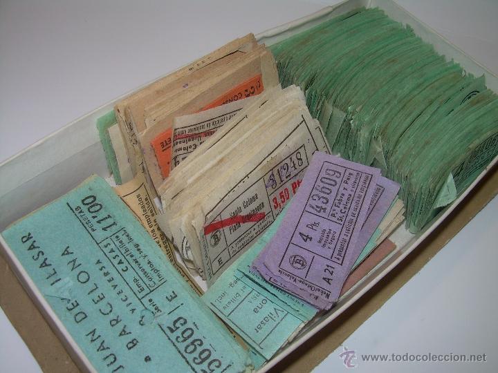 GRAN LOTE DE BILLETES DE TRANSPORTE. (Coleccionismo - Billetes de Transporte)