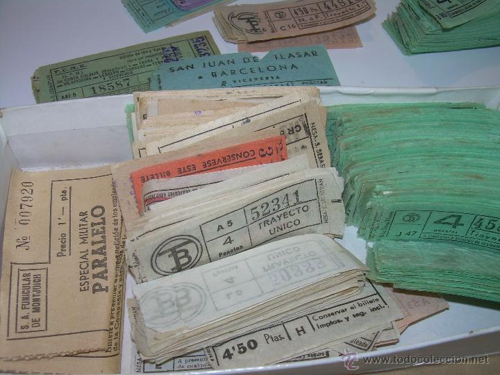 Coleccionismo Billetes de transporte: GRAN LOTE DE BILLETES DE TRANSPORTE. - Foto 3 - 50749956