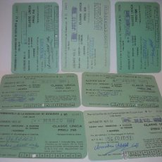 Coleccionismo Billetes de transporte: SIETE ABONOS MESUALES DE FERROCARRILES DE LA GENERALITAT DE CATALUNYA.. Lote 50855731