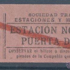 Coleccionismo Billetes de transporte: BILLETE DE TRANVIA DE MADRID. Lote 50898551