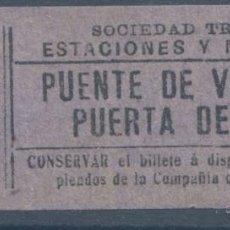 Coleccionismo Billetes de transporte: BILLETE DE TRANVIA DE MADRID. Lote 50898557