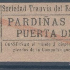 Coleccionismo Billetes de transporte: BILLETE DE TRANVIA DE MADRID. Lote 50898698