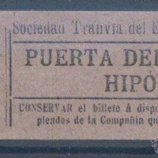 Coleccionismo Billetes de transporte: BILLETE DE TRANVIA DE MADRID. Lote 50898702