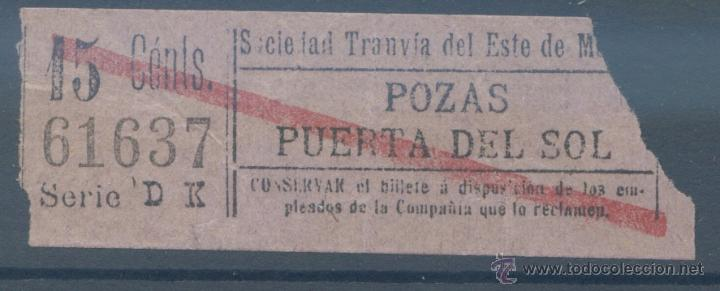 BILLETE DE TRANVIA DE MADRID (Coleccionismo - Billetes de Transporte)