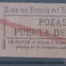 Coleccionismo Billetes de transporte: BILLETE DE TRANVIA DE MADRID. Lote 50898805