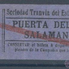 Coleccionismo Billetes de transporte: BILLETE DE TRANVIA DE MADRID. Lote 50898810
