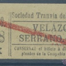 Coleccionismo Billetes de transporte: BILLETE DE TRANVIA DE MADRID. Lote 50898817