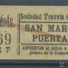 Coleccionismo Billetes de transporte: BILLETE DE TRANVIA DE MADRID. Lote 50898822