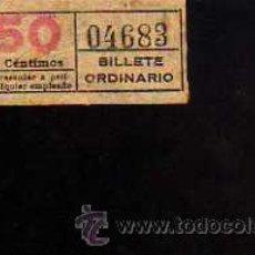 Coleccionismo Billetes de transporte: BILLETE TRANVIA. BARCELONA.. Lote 51362002