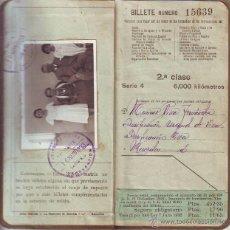 Coleccionismo Billetes de transporte: BILLETE KILOMÉTRICO. TARIFA 109 2ª CLASE (6.000 KM). 1933. Lote 51505225
