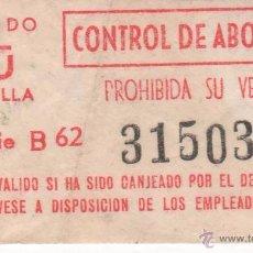Coleccionismo Billetes de transporte: BILLETE DE AUTOBÚS DEL TRANSPORTE PÚBLICO DE SEVILLA.. Lote 51705869