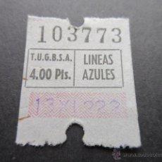 Coleccionismo Billetes de transporte: BILLETE EMPRESA T.U.G.B., S.A. LINEAS AZULES. Lote 51741104