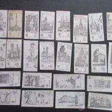 Coleccionismo Billetes de transporte: LOTE DE 24 BILLETES SERIE COMPLETA BARCELONA MONUMENTAL 1973 - 1974. Lote 185998193