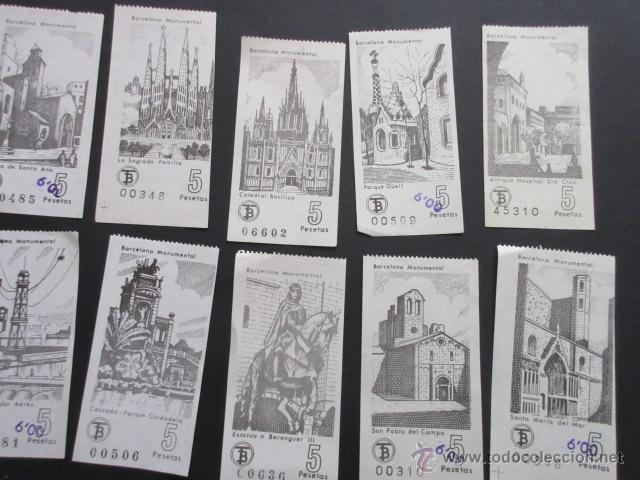 Coleccionismo Billetes de transporte: LOTE DE 24 BILLETES SERIE COMPLETA BARCELONA MONUMENTAL 1973 - 1974 - Foto 2 - 52012884