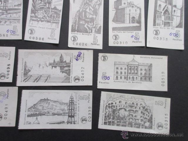 Coleccionismo Billetes de transporte: LOTE DE 24 BILLETES SERIE COMPLETA BARCELONA MONUMENTAL 1973 - 1974 - Foto 3 - 52012884