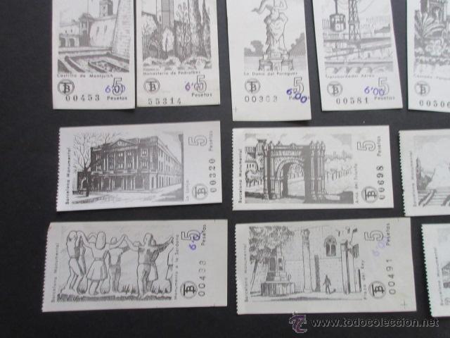 Coleccionismo Billetes de transporte: LOTE DE 24 BILLETES SERIE COMPLETA BARCELONA MONUMENTAL 1973 - 1974 - Foto 4 - 52012884