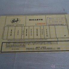 Collezionismo Biglietti di trasporto: ANTIGUO BILLETE DE TREN.RENFE AÑO 1973. Lote 52420609