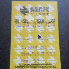 Coleccionismo Billetes de transporte: BILLETE HUGIN RENFE MODELO 1 - OBSERVAR DIFERENCIAS ENTRE ELLOS TODOS DIFERENTES - TRAYECTOS DISTINT. Lote 52429792