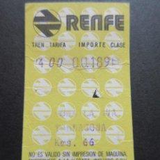 Coleccionismo Billetes de transporte: BILLETE HUGIN RENFE MODELO 5 - OBSERVAR DIFERENCIAS ENTRE ELLOS TODOS DIFERENTES - TRAYECTOS DISTINT. Lote 52429866