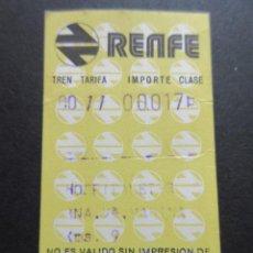 Coleccionismo Billetes de transporte: BILLETE HUGIN RENFE MODELO 6 - OBSERVAR DIFERENCIAS ENTRE ELLOS TODOS DIFERENTES - TRAYECTOS DISTINT. Lote 52429882