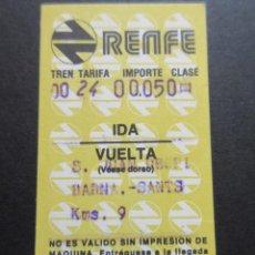 Coleccionismo Billetes de transporte: BILLETE HUGIN RENFE MODELO 7 - OBSERVAR DIFERENCIAS ENTRE ELLOS TODOS DIFERENTES - TRAYECTOS DISTINT. Lote 179030908