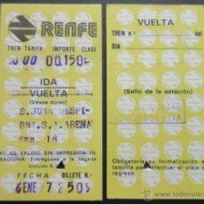 Coleccionismo Billetes de transporte: BILLETE HUGIN RENFE MODELO 10 - OBSERVAR DIFERENCIAS ENTRE ELLOS TODOS DIFERENTES- TRAYECTOS DISTINT. Lote 52429910
