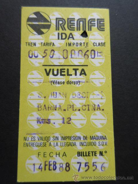 BILLETE HUGIN RENFE MODELO 11 - OBSERVAR DIFERENCIAS ENTRE ELLOS TODOS DIFERENTES -TRAYECTOS DISTINT (Coleccionismo - Billetes de Transporte)