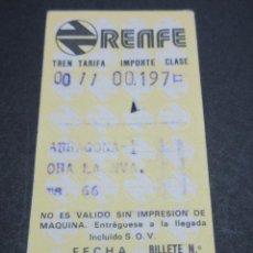 Coleccionismo Billetes de transporte: BILLETE HUGIN RENFE MODELO 4 - OBSERVAR DIFERENCIAS ENTRE ELLOS TODOS DIFERENTES - TRAYECTOS DISTINT. Lote 52458499