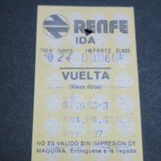 Coleccionismo Billetes de transporte: BILLETE HUGIN RENFE MODELO 12- OBSERVAR DIFERENCIAS ENTRE ELLOS TODOS DIFERENTES - TRAYECTOS DISTINT. Lote 52458503