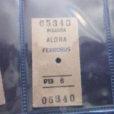 Coleccionismo Billetes de transporte: BILLETE EDMONSON PIZARRA ALORA FERROBUS 6 PESETAS . Lote 52459499