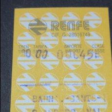 Coleccionismo Billetes de transporte: BILLETE HUGIN RENFE MODELO 1 - VER DIFERENCIA ENTRE ELLOS TODOS DIFERENTES- BARNA SANTS S.ANDRES ARE. Lote 52485175
