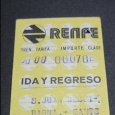 Coleccionismo Billetes de transporte: BILLETE HUGIN RENFE MODELO 2 - VER DIFERENCIA ENTRE ELLOS TODOS DIFERENTES- S.JUAN DESPI BARNA SANTS. Lote 52515165