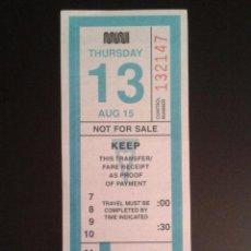 Collezionismo Biglietti di trasporto: BILLETE DE TRANSPORTE DE SAN FRANCISCO. Lote 52872404