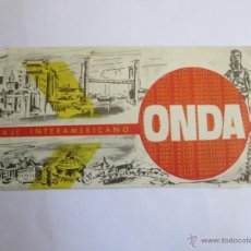 Coleccionismo Billetes de transporte: ONDA URUGUAY 1976 PASAJE MONTEVIDEO - PORTO ALEGRE. BUS TICKET. Lote 53093512