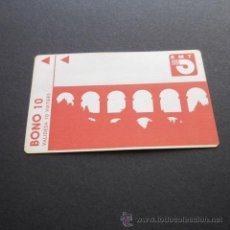 Coleccionismo Billetes de transporte: TARJETA BONO BUS AUTOBUSES DE TARRAGONA EMT . Lote 53517695