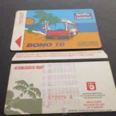 Coleccionismo Billetes de transporte: TARJETA BONO BUS AUTOBUSES DE TARRAGONA EMT . Lote 53517699