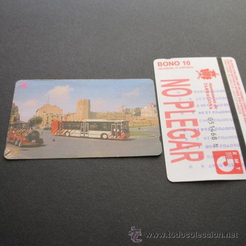 TARJETA BONO BUS AUTOBUSES DE TARRAGONA EMT (Coleccionismo - Billetes de Transporte)