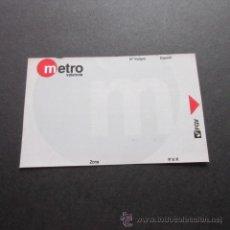 Coleccionismo Billetes de transporte: TARJETA FERROCARRILES GENERALITAT VALENCIA METRO BONOMETRO 10 VIAJES MODELO 4 . Lote 53524987