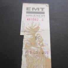 Coleccionismo Billetes de transporte: TARJETA RESISTIVA EMPRESA EMT VALENCIA - COLECCION LA LONJA . Lote 53525585
