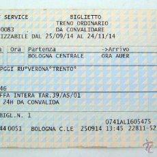 Coleccionismo Billetes de transporte: LOTE BILLETES DE TRANSPORTE ITALIA. Lote 54150319