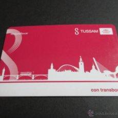 Coleccionismo Billetes de transporte: TARJETA PLASTICO EMPRESA TUSSAM SEVILLA TARJETA CON TRANSBORDOS. Lote 142643436