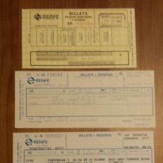 Coleccionismo Billetes de transporte: 5 BILLETES DE RENFE. DISTINTOS TRAYECTOS. 1988 (2). 1990. 1993 (2 IDA Y VUELTA) Y 2015. BUEN ESTADO. Lote 54450063