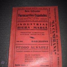 Coleccionismo Billetes de transporte: FERROCARRILES ESPAÑOLES - JUNIO 1953 - GUIA INDICADORN- VER FOTOS - MIDE 15 X 21 CM. - (V-4474). Lote 54515623