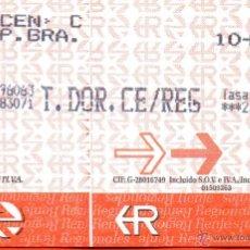 Coleccionismo Billetes de transporte: . BILLETE RENFE. Lote 54528486