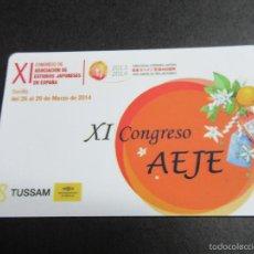 Coleccionismo Billetes de transporte: TARJETA PLASTICO CONGRESO AEJE EMPRESA TUSSAM SEVILLA. Lote 55349988