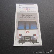 Sammeln von Fahrkarten - BILLETE METRO BARCELONA CONMEMORATIVO BARCELONA ESTRENA METRO - 132790707