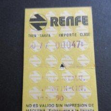 Coleccionismo Billetes de transporte: BILLETE HUGIN RENFE - 1975 - PARADAS PLAZA CATALUÑA SAN MARTIN. Lote 56045953