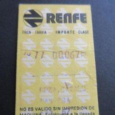 Coleccionismo Billetes de transporte: BILLETE HUGIN RENFE - - PARADAS PLAZA CATALUÑA MANRESA. Lote 56046728