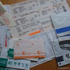Coleccionismo Billetes de transporte: LOTE BILLETES DE TRANSPORTE ESPAÑOLES. Lote 56210735